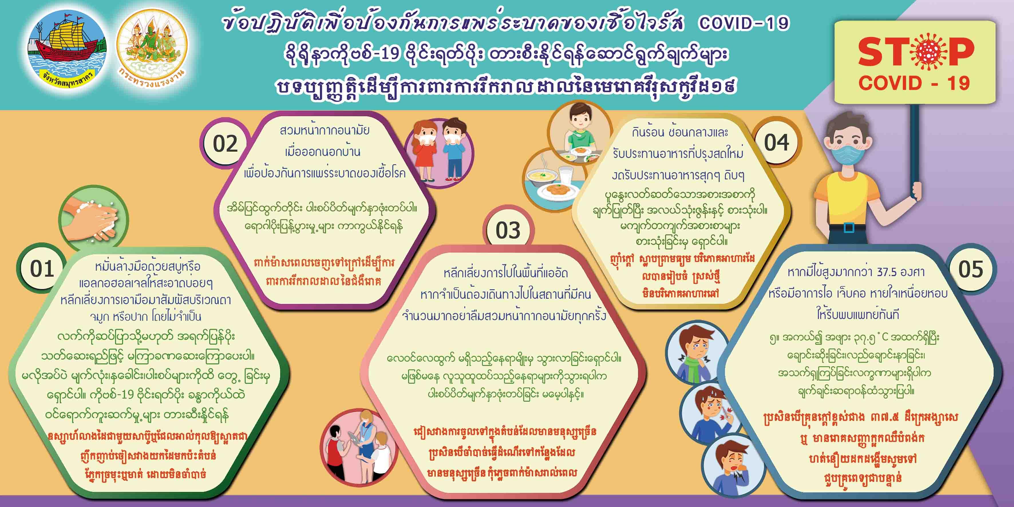 ข้อปฏิบัติเพื่อป้องกันการแพร่ระบาดของเชื้อไวรัส COVID-19